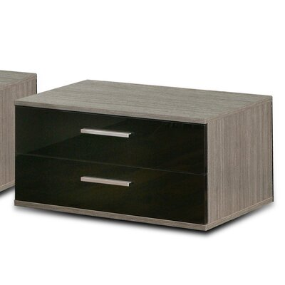 Home Etc Sacate 2 Drawers Bedside Table