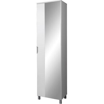 Urban Designs Liquid 49cm x 194cm Mirrored Freestanding Tall Bathroom Cabinet