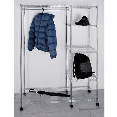 House Additions Clothes Rail with Shelf