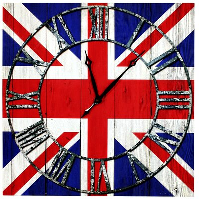 House Additions Union Jack Canvas Wall Clock