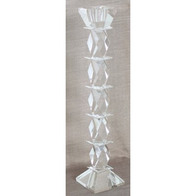 House Additions Diamond Glass Candlestick