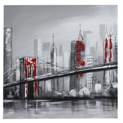 House Additions Brooklyn Bridge Art Print on Canvas