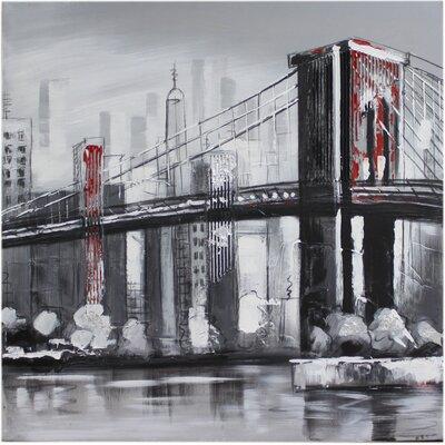 House Additions Brooklyn Bridge Art Print on Canvas