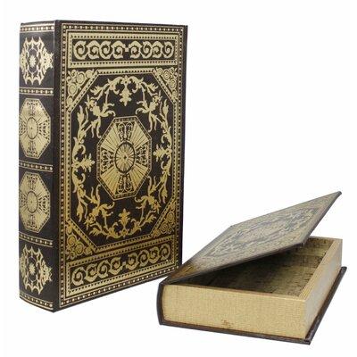 House Additions 2 Piece Around the World Gilded Book Storage Box Set