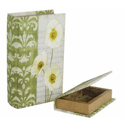 House Additions 2 Piece Spring Poppy Book Storage Box Set