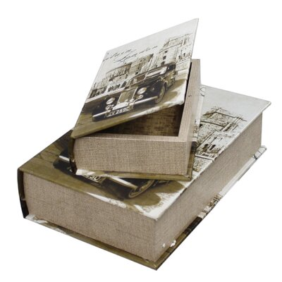 House Additions 2 Piece Around the World London Castle Book Storage Box Set