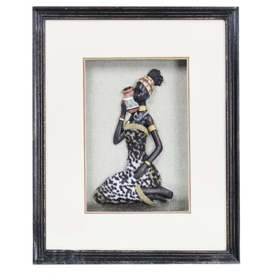 House Additions 3D Tribal Lady Framed Graphic Art