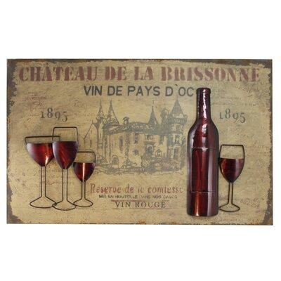 House Additions Vintage Vin Rouge Vintage Advertisement on Canvas