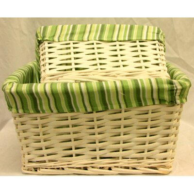 House Additions 2 Piece Wicker Hamper Laundry Gift Set