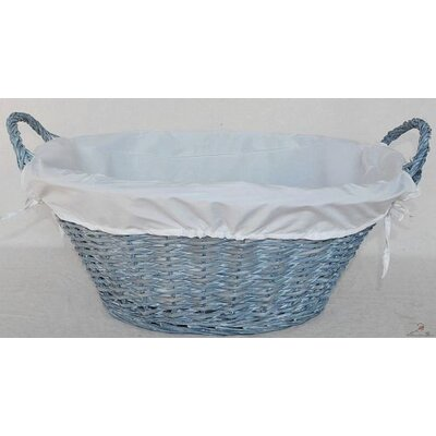 House Additions Wicker Lined Laundry Basket