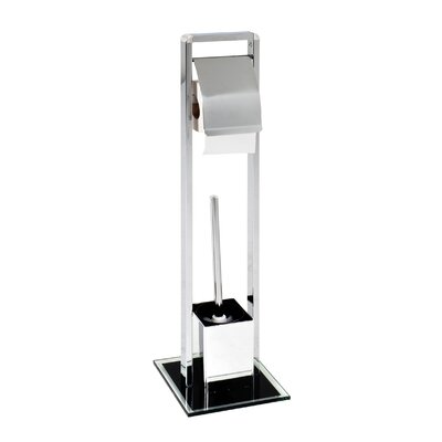 House Additions Free Standing Toilet Roll and Brush Holder