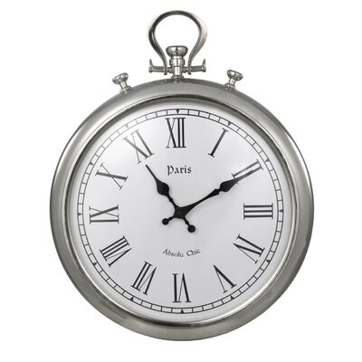 House Additions Round Metal Wall Clock