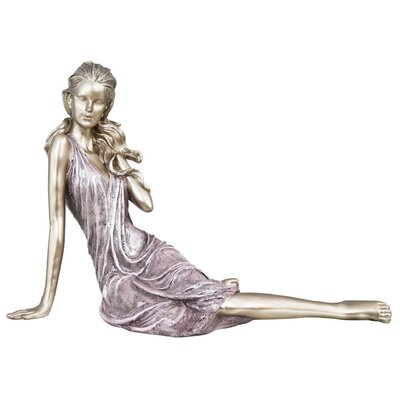 House Additions Sitting Lady Figurine