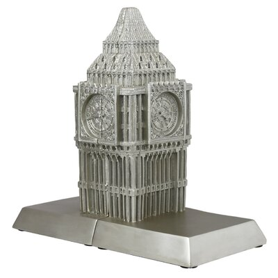House Additions Big Ben Book Ends in Champagne