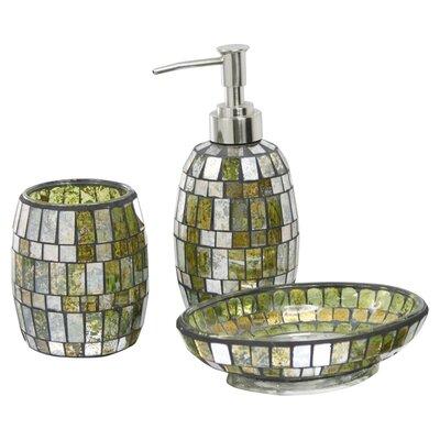 House Additions Mosaic 3 Piece Bathroom Accessory Set