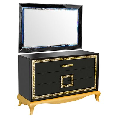 House Additions Vicenza 3 Drawer Dressing Table with Mirror