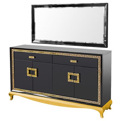 House Additions Vicenza 2 Drawer Dressing Table with Mirror