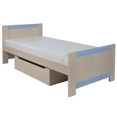 House Additions Lazo Fanfair European Single Panel Bed with Storage