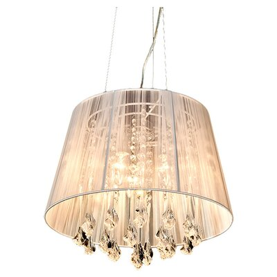 House Additions 3 Light Drum Chandelier
