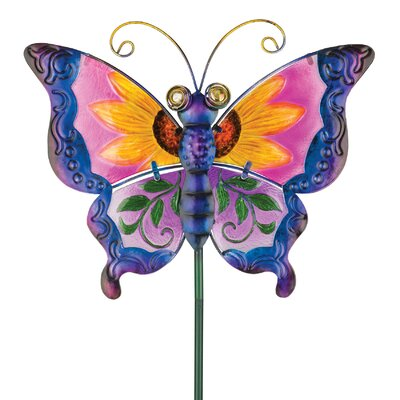 House Additions Floral Butterfly Garden Stake