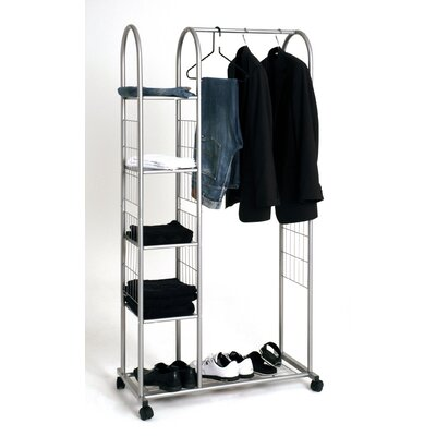 House Additions Trainoa Clothes Rail with Shelf