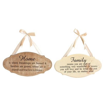 House Additions Dandy Wishes 2 Piece Bevelled Edge Plaque Set