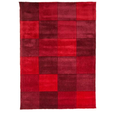 House Additions Infinite Inspire Hand-Tufted Red Area Rug