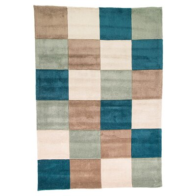 House Additions Infinite Inspire Hand-Tufted Teal/Duck Egg Area Rug