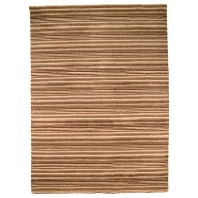 House Additions Oat Hand-Knotted Brown Area Rug
