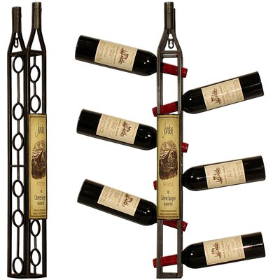 House Additions 6 Bottle Wall Mounted Wine Rack