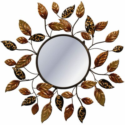 House Additions Brunswick Metal Art Floral Mirror