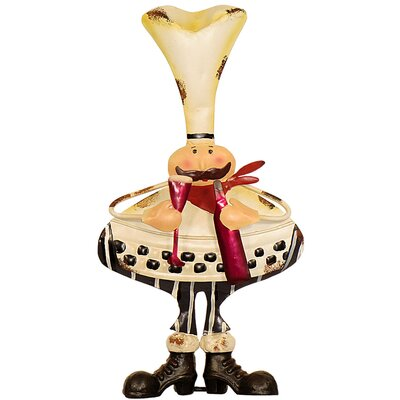 House Additions Metal Art Fat Chef Figurine
