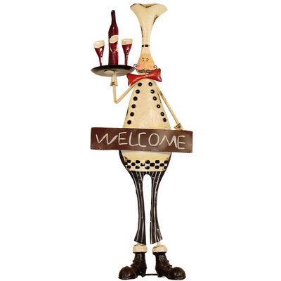 House Additions Metal Art Welcome Chef Statue