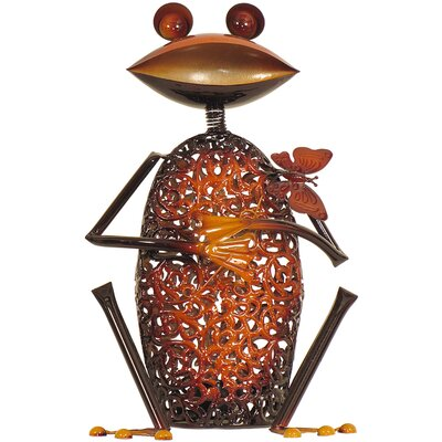 House Additions Metal Art Frog Candle Holder