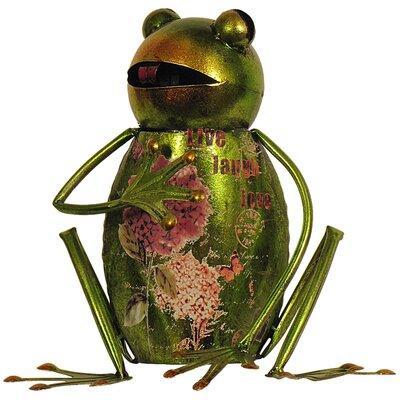 House Additions Metal Art Frog Figurine