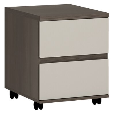 House Additions Panitya 2-Drawer Mobile Vertical Filing Cabinet