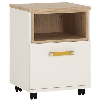 House Additions Pimpinio 1-Drawer Mobile Vertical Filing Cabinet