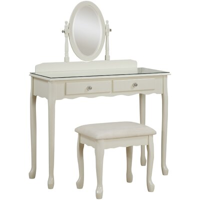 House Additions Atria 2 Drawer Dressing Table Set with Mirror