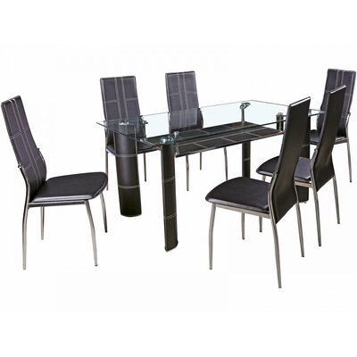 House Additions Denman Dining Table and 6 Chairs