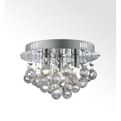House Additions 3 Light Semi-Flush Ceiling Light