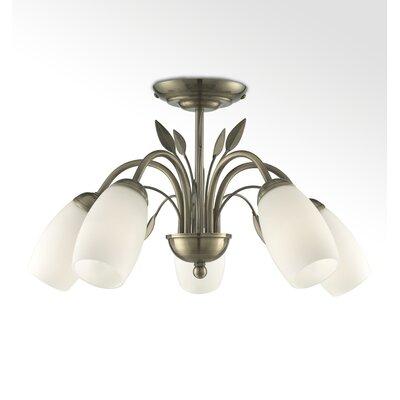 House Additions 5 Light Semi Flush Light