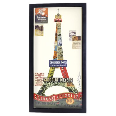 House Additions Eiffel Tower Collage Picture Framed Vintage Advertisement