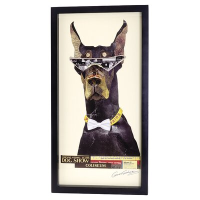 House Additions Doberman Collage Picture Framed Graphic Art