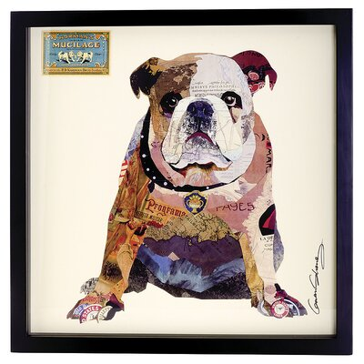 House Additions Bulldog Collage Picture Framed Graphic Art