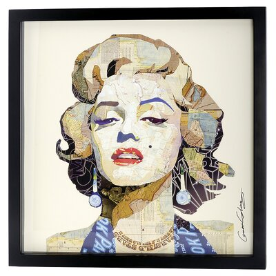 House Additions Marilyn Collage Picture Framed Graphic Art