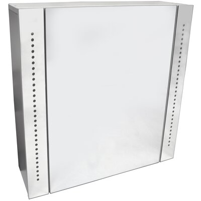House Additions Kithnos 60 x 60cm Wall Surface Mount Flat Mirror Cabinet