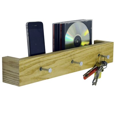 House Additions Wall Mounted 3 Key Holder / Picture Shelf