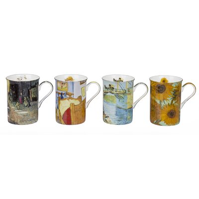 House Additions Van Gogh 4 Piece 0.29L Fine China Mug Set