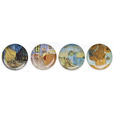 House Additions Van Gogh 20cm Dinner Plate 4 Piece Set