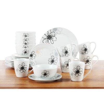 House Additions Porcelain 24 Piece Dinnerware Set